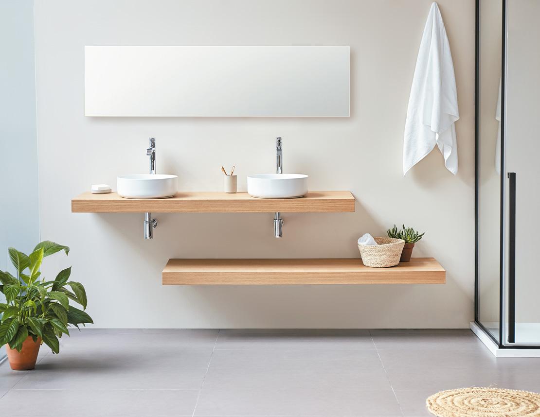 muebles de baño de dos senos modernos