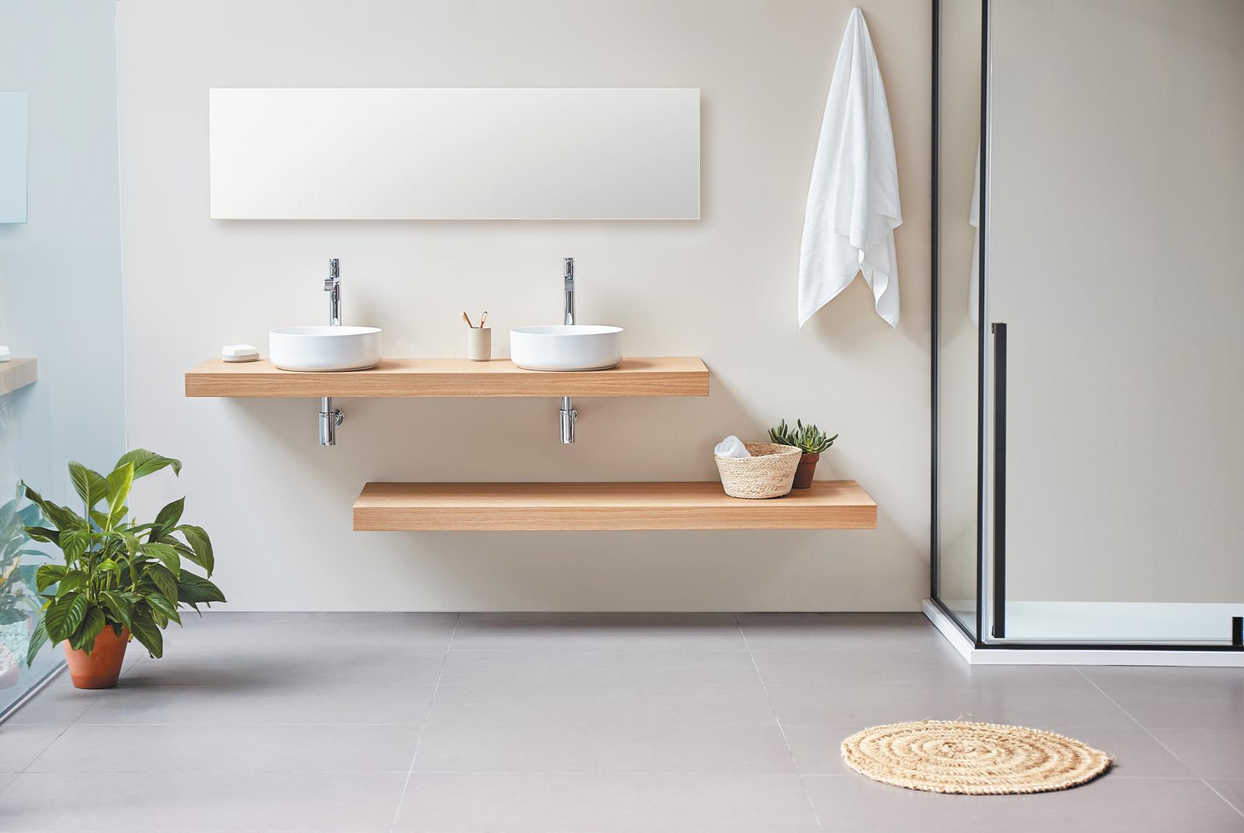 La madera: el material que da actitud a tu baño  Sanycces